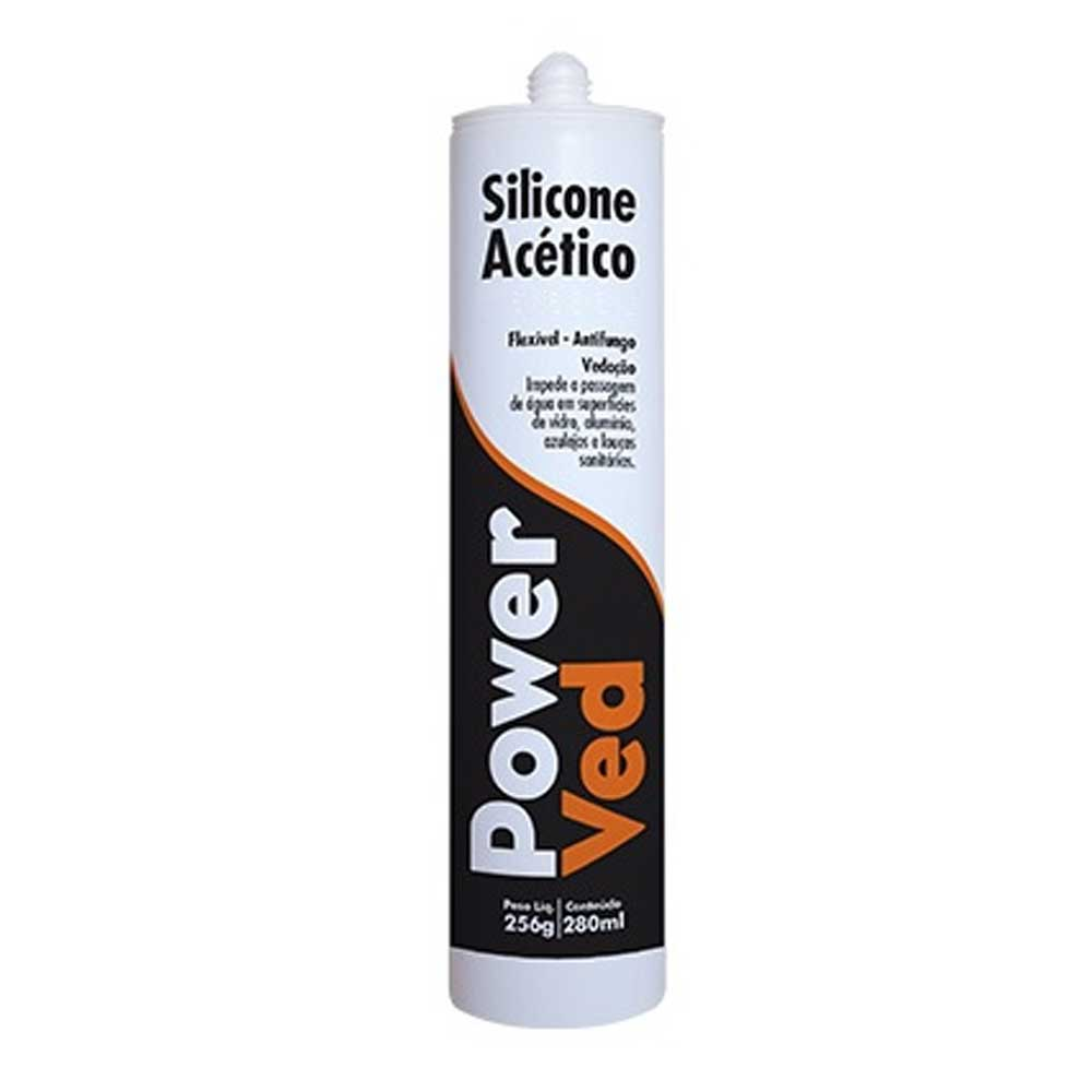 Silicone Acético Incolor 260g - Fischer